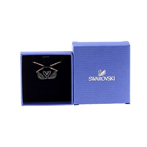 dbbb5562e Swarovski Iconic Swan Double Necklace, Black 5296468 Length: 14 7/8 inches  by