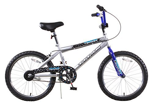 Titan Tomcat Boys BMX with 20 Wheel Silver and Blue with Coaster Brake [並行輸入品] B07BFVT28J
