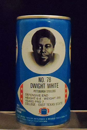 Royal Crown Cola RC Dwight White Pittsburgh Steelers East Texas State U. 12-Ounce Can -