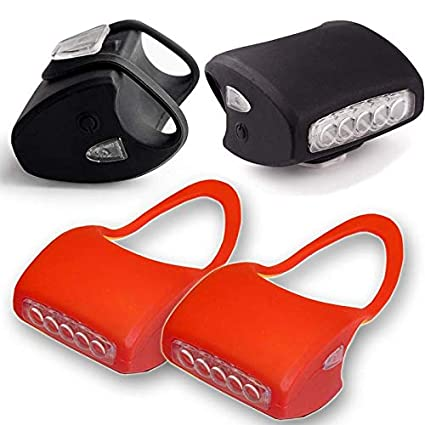 Kinderwagenlicht 7 LED Weiß Wasserdicht Qualitätsarbeit Schwarz Silikon Doppelpack Kinderwagen Licht Kinderwagenbeleuchtung Top Idee (Schwarz mit Batterien) Ever Bright