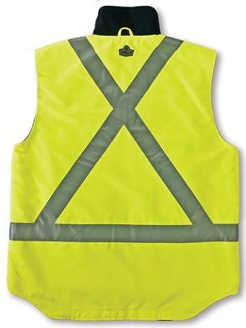 Ergodyne GloWear 8378X Class-2X-Back Thermal Vest, Lime, 5X-Large (Life Vests 5x)