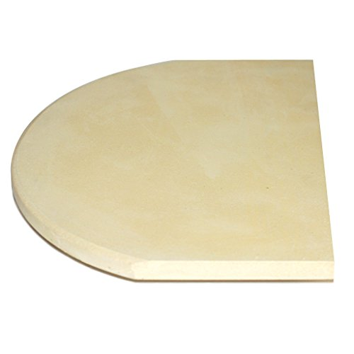 Ceramic Grill Store 9'' x 12'' Ceramic Pizza Stone/Heat Deflector for Large Primo Ceramic Grills. by Ceramic Grill Store