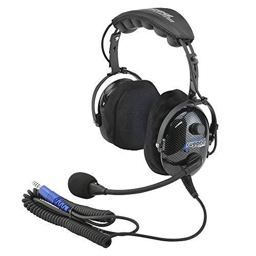- Rugged Radios H22-ULT Carbon Fiber Over the Head Ultimate Headset with Gel Ear Seals, Cloth Ear Covers and Dynamic Noise Cancelling Microphone