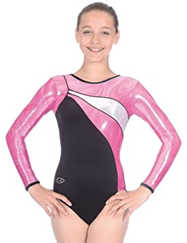 5a8c44ea752c The Zone Z300SWI round neck long sleeve leotard with Smooth black ...
