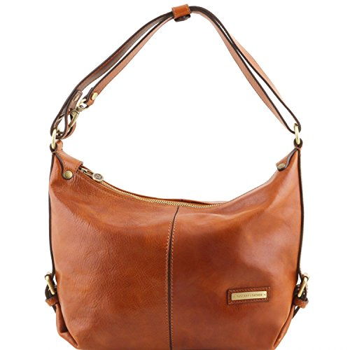 Tuscany Leather Sabrina Leather hobo bag Honey by Tuscany Leather