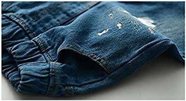 Girls Ripped Jeans,Skinny Jeans Cute Cat Denim Pants Disstressed Jean for Teen Girls