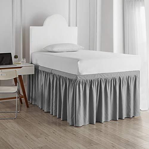 DormCo Bed Skirt Twin XL (3 Panel Set) - Alloy
