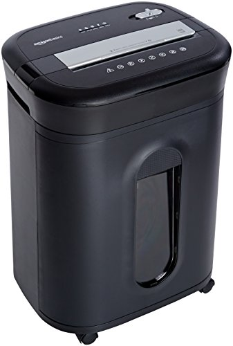 Amazonbasics 15 Sheet Cross Cut Paper Cd Credit Card Shredder
