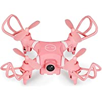 Glorrt YD A15 Mini RC Quadcopter 2.4G 360 Degrees 4 Ways Flips and 0.3MP WIFI HD Camera (Pink)