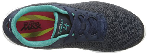 Shoe 4 Walk Performance Women's Walking Go Skechers Teal up Lace Navy 7Tn8ggx