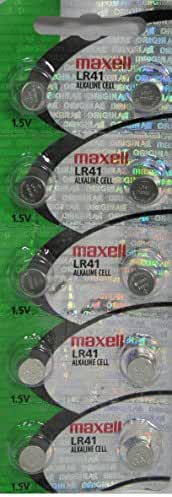 10 Maxell LR41 AG3 392 CX41 SR41SW SR736 1.5V Alkaline Watch Battery, New hologram packaging that guarantees authenticity