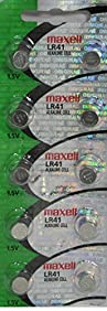 Maxell Watch Battery Button Cell LR41 AG3 192 Pack of 10 Batteries