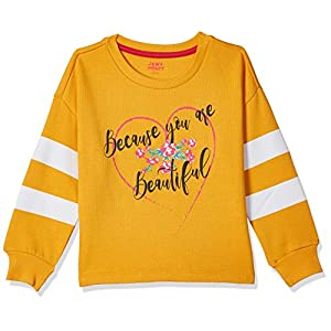 Amazon Brand – Jam & Honey Girl's Cotton Sweatshirt
