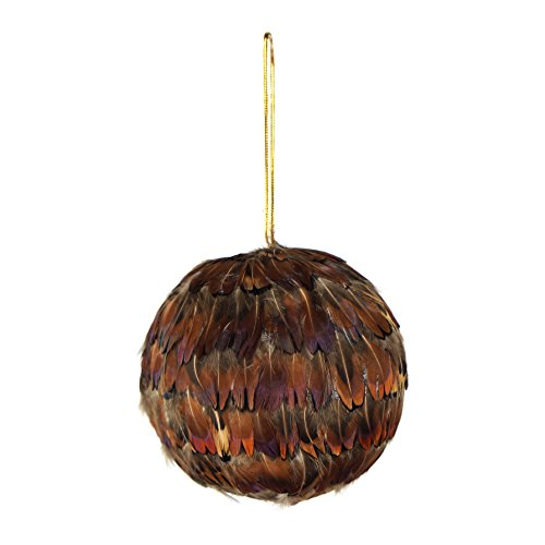 ZUCKER Pheasant Heart Feather Christmas Ornament-4