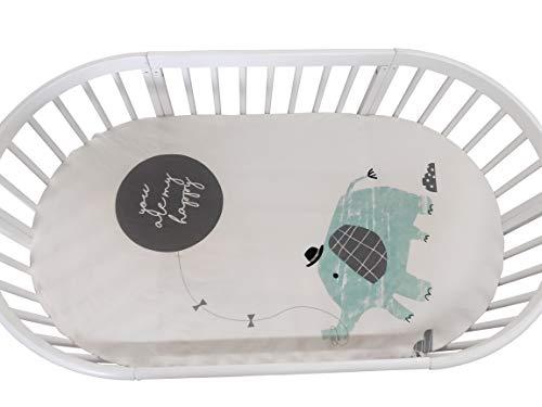 Baby Nursery Crib Bedding Sheet for Oval Crib 12 ft Compatib