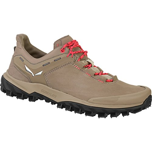 Salewa Women's Wander Hiker Leather Hiking Shoe, Other Nut/Hot Coral, 9 by Salewa