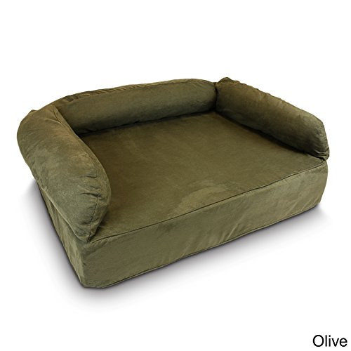 Snoozer Pet Products - Luxury Dog Sofa with Memory Foam | X-Large - Olive