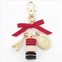 LADUREE Keychain Ring Eiffel Tower Macaron Charm S -RED by MARKS
