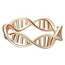 Vintage DNA Punk Style Finger Ring Gift Jewelry Accessories Knuckle Ring for Women Girls