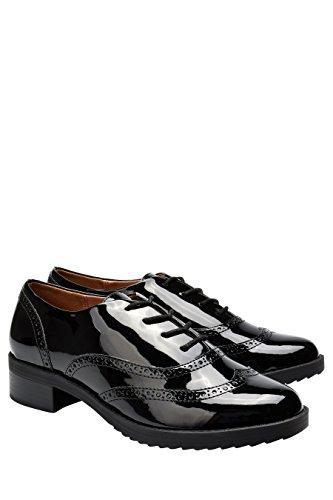 Lacets Chaussures Patent À Richelieu Femme Noir Next pzBxFUwqF