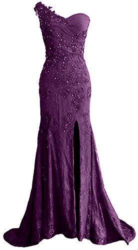 ballo in Macloth modello spallina da sirena da lungo formale una da donna abito Eggplant sera ad pizzo e WU1SqHw