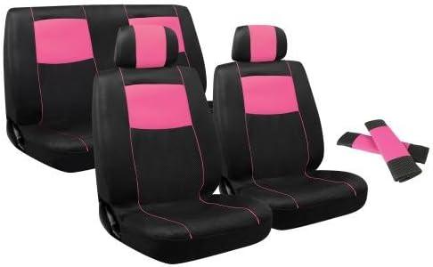 Pilot Automotive Pink Pilot SC-310P Sport Mesh Covers-Set of 2 Seat Covers /& Rear Bench