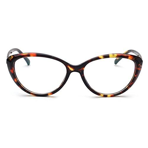 Hommes Femmes Cat Eye Lunettes - Transparents Lunettes Cadre - Mode Lunettes - hibote # 122903 C3