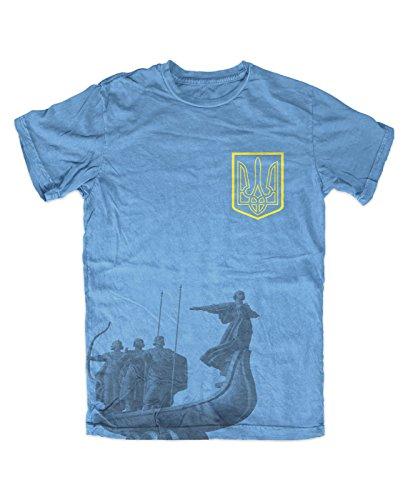 Ukraine Shop T-Shirt Herren Sky Blue