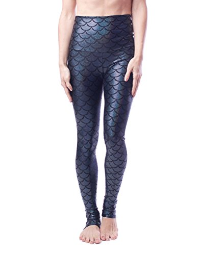 Emily Hsu Designs Onyx Shimmers Mermaid Legging (L)