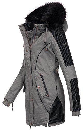 da B372 Marikoo parka Grau invernale giaccone Caldo donna rXrqwx1