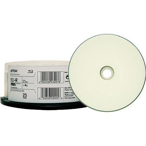 25pk Bray 25 GB WORM Disc Therm WHT 4 X書き込みW / JC B0013U1LWC