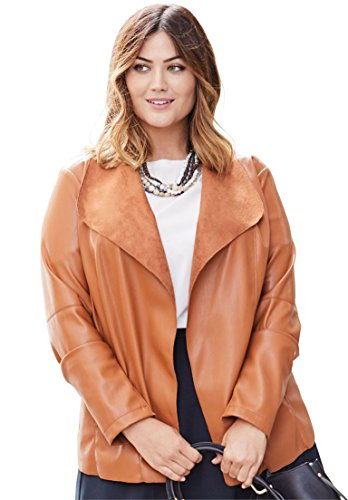 Jessica-London-Womens-Plus-Size-Faux-Leather-Jacket