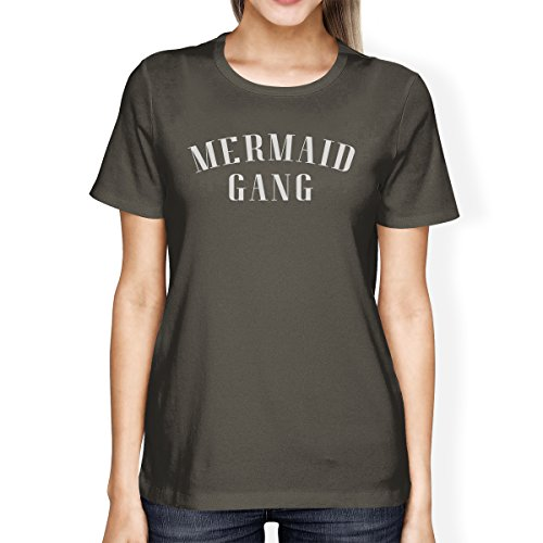 Mermaid Gang shirt Dark 365 Grey Courtes Manches T Shirt Printing Femme wx4qYaB0q