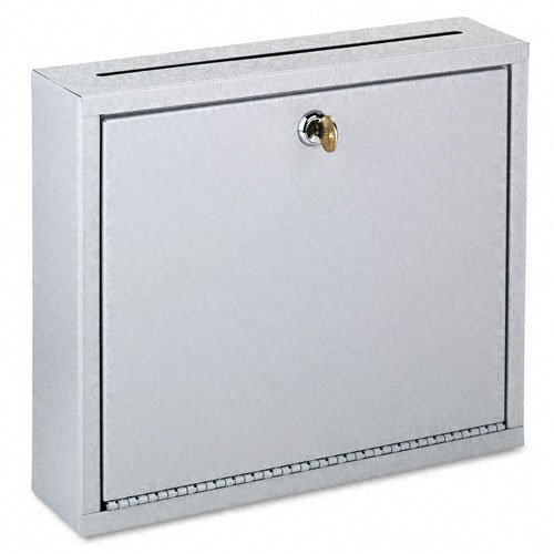 Buddy Products : Wall-Mountable Interoffice Mail Collection Box, 12w x 3d x 10h, Platinum -:- Sold as 2 Packs of - 1 - / - Total of 2 Each