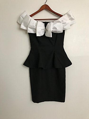 [Black and White Betsy & Adam 80s Dress, Size Women's 5-6] (1980s Dress)