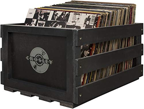 Crosley AC1004A-BK Record Storage Crate Holds up to, used for sale  Delivered anywhere in USA