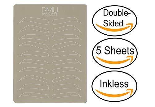 4e91471617b04 PMU Cosmopolitan Pack | Microblading Practice Skin Double-Sided |  Professional Realistic Hairstroke Tattoo Latex