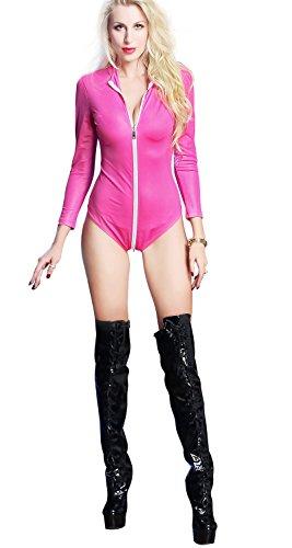 Sintetica HGOOD Con Seduttrice Costume Catwoman Da In Da Gold Sexy Tuta Pelle Zip Incl Donna Tuta rprCY4q