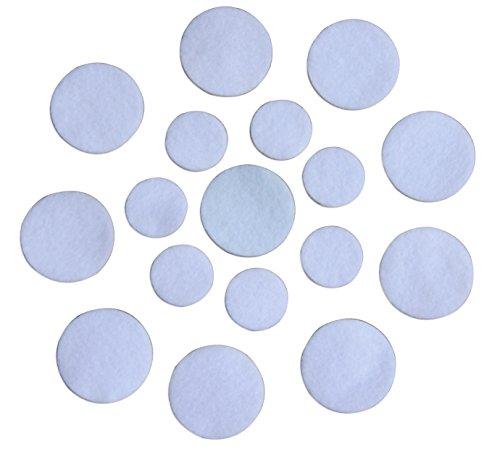 Wholesale Craft Felt - White Adhesive Felt Circles; 1