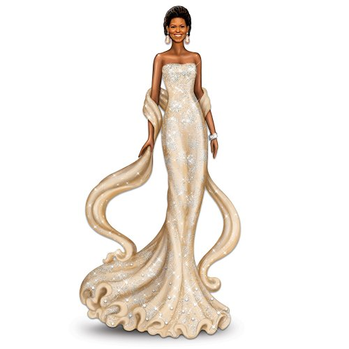 The Michelle Obama Radiant Beauty Figurine by The Bradford - Glasses Michelle Obama