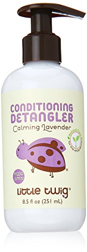 Little Twig All Natural, Hypoallergenic Conditioning Detangler with an Organic Blend of Lavender, Lemon, and Tea Tree Oils, Calming Lavender Scent, 8.5 Fluid Oz