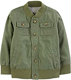 Baby and Toddler Boys Twill Button up Jacket