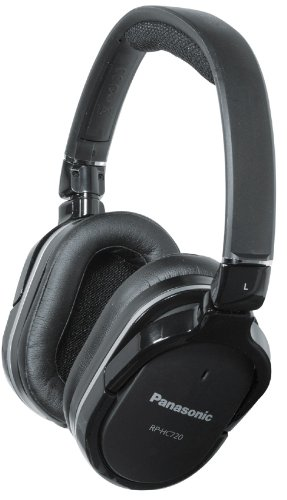 Panasonic RPHC720K Over-Ear Headphones, Black (Discontinued by Manufacturer) by Panasonic