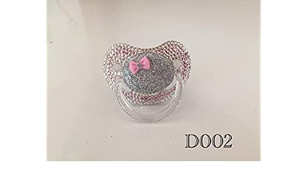 bebe chupete strass Crystal bling Pacifier chupete pedrería ...