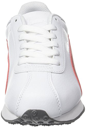 Puma Turin - Scarpe da Ginnastica Basse Unisex - Adulto Bianco (Puma White-barbados Cherry 15)