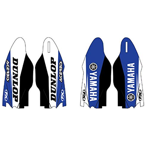 (Sponsor Logo Lower Fork Guard Graphics For 2003 Yamaha YZ450F Offroad Motorcycle)