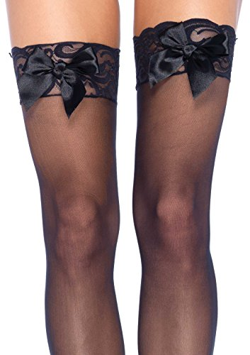 Morris Costumes - Calcetines con bordados unisex, color Negro, talla única fits all