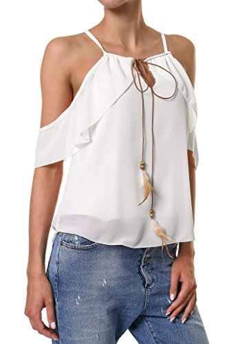 Hailys Mujeres Ropa superior / Top Biannia blanco