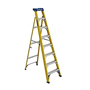 Louisville Ladder FXS2008 Cross Step Ladder, 250-Load Capacity, Type I Duty Rating, 8' , 8-Foot