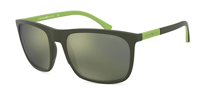 Emporio Armani 0EA4133 Gafas de sol, Green Rubber, 59 para ...